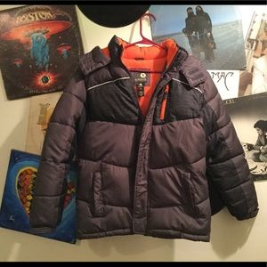 XERSION BOYS HOODED PUFFER JACKET M 10-12